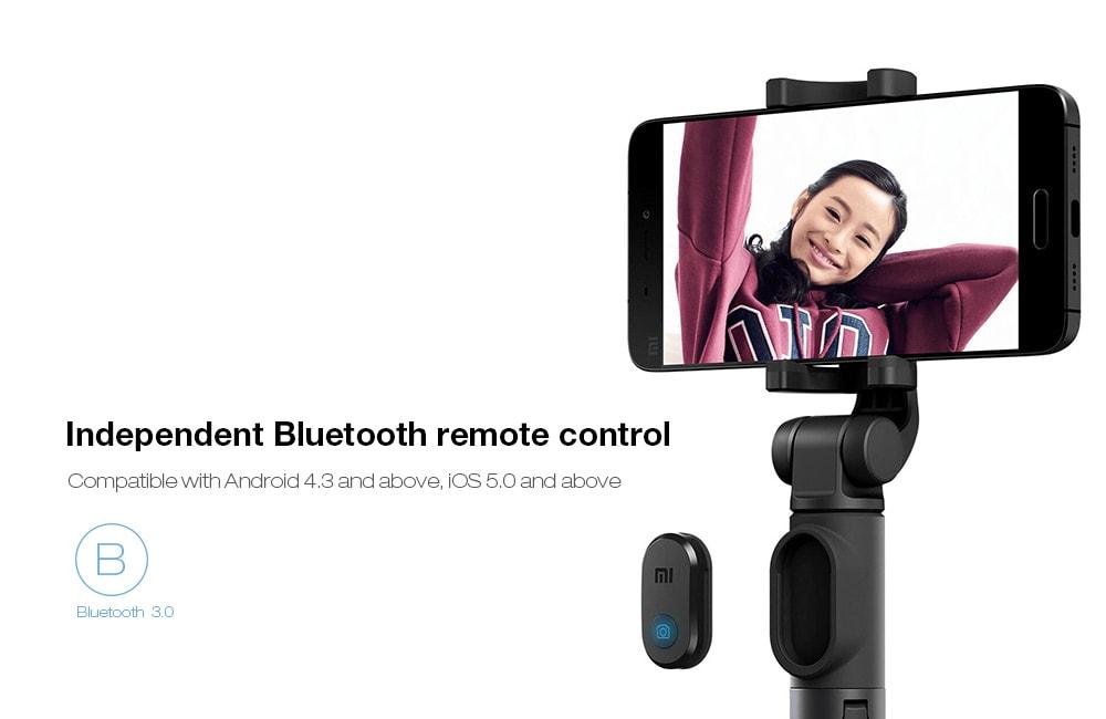 eredeti xiaomi selfie stick bluetooth tavkioldo allvany tarto 5 - Eredeti Xiaomi Selfie bot Bluetooth távkioldó állvány tartó