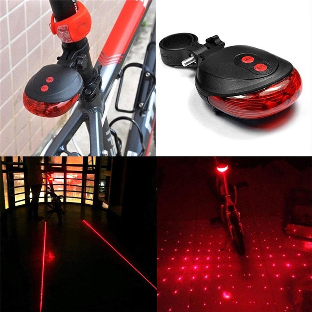 hatso kerekpar lampa 2 lezer 5 led 1 - Hátsó kerékpár lámpa 2 lézer 5 LED