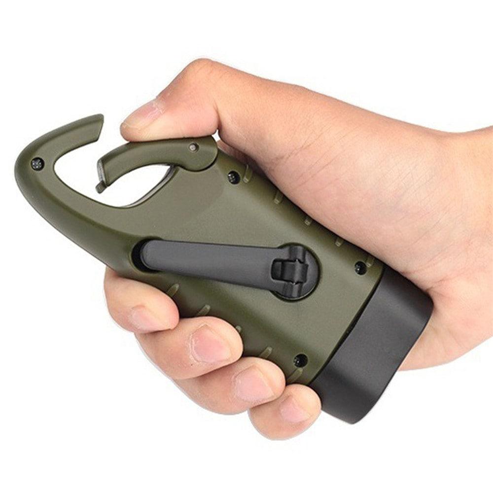 toltheto kezi forgattyus dinamos napelemes aramellatasu led zseblampa 2 - Tölthető, kézi forgattyús dinamós, napelemes áramellátású LED zseblámpa