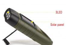 toltheto kezi forgattyus dinamos napelemes aramellatasu led zseblampa 3 220x150 - Tölthető, kézi forgattyús dinamós, napelemes áramellátású LED zseblámpa