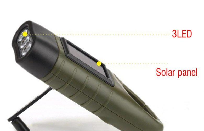 toltheto kezi forgattyus dinamos napelemes aramellatasu led zseblampa 3 780x500 - Tölthető, kézi forgattyús dinamós, napelemes áramellátású LED zseblámpa