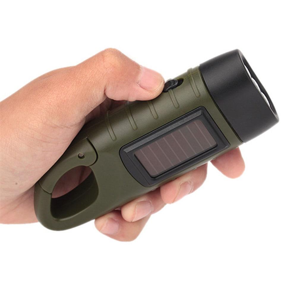 toltheto kezi forgattyus dinamos napelemes aramellatasu led zseblampa 4 - Tölthető, kézi forgattyús dinamós, napelemes áramellátású LED zseblámpa