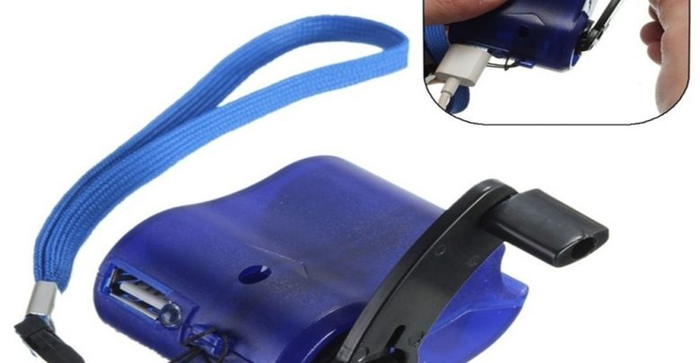usb mobiltelefon tolto kezi hajtokarral 780x405 - USB mobiltelefon töltő kézi hajtókarral