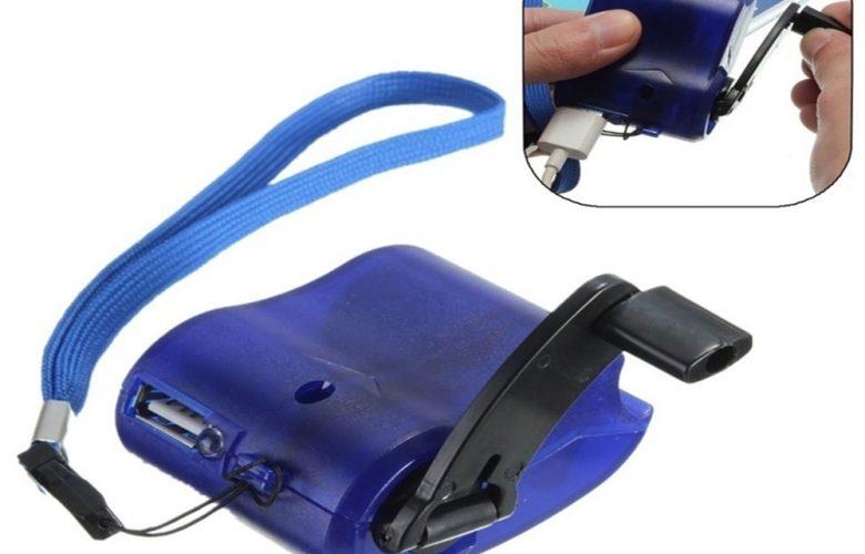 usb mobiltelefon tolto kezi hajtokarral 780x500 - USB mobiltelefon töltő kézi hajtókarral