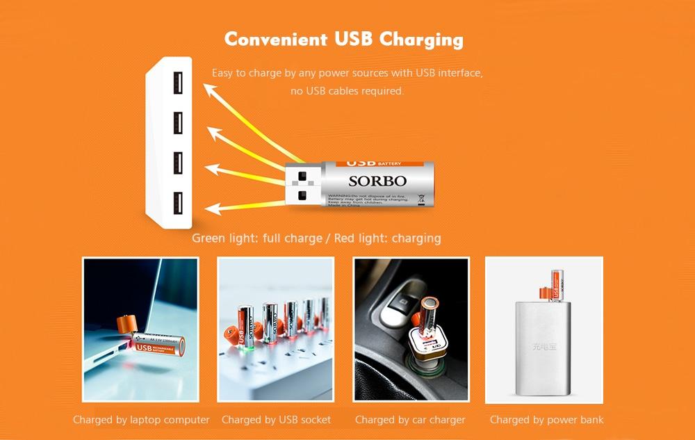 usb ujratoltheto aa akkumulator a facemaster 1 5v 4db 4 - USB újratölthető AA akkumulátor a FaceMaster 1, 5V 4db