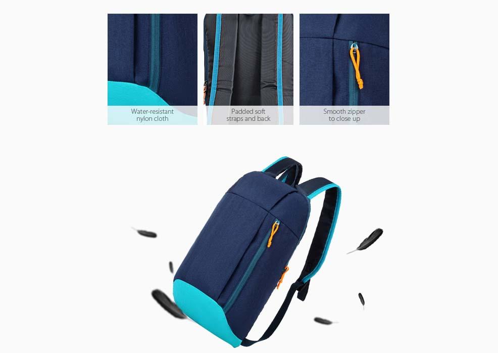 vizallo nylon 10l ultra konnyu hatizsak 2 - Vízálló Nylon 10L Ultra könnyű hátizsák