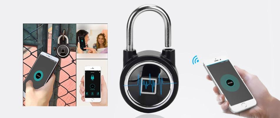 bluetooth ujjlenyomat olvasos jelszo lakat 3 - Bluetooth ujjlenyomat olvasós jelszó lakat