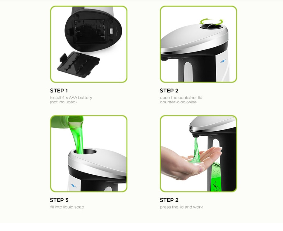 ad 03 400 automatikus szappan adagolo 3 - AD - 03 400 automatikus szappan adagoló