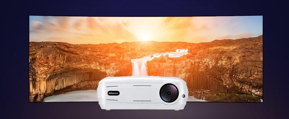 alfawise x 3200 lumens hd 1080p intelligens projektor 2 - Alfawise X 3200 Lumens HD 1080P intelligens projektor
