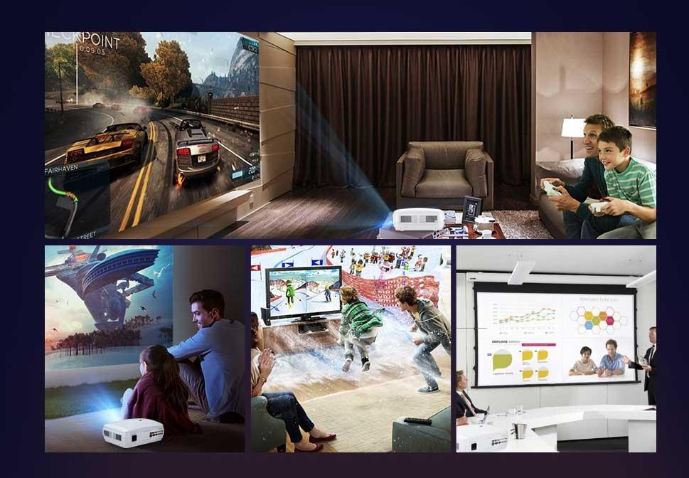 alfawise x 3200 lumens hd 1080p intelligens projektor 4 - Alfawise X 3200 Lumens HD 1080P intelligens projektor